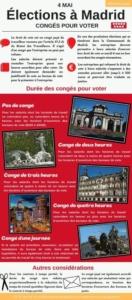 congés voter Madrid